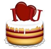 Valentines Day cake Stock Image