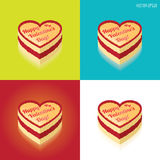 Valentines Day cake Royalty Free Stock Images