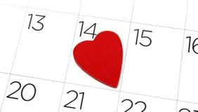 Valentines day calendar Royalty Free Stock Photos