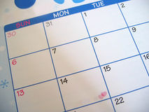 Valentines Day on calendar Royalty Free Stock Photography