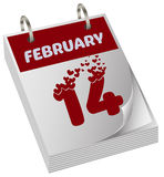 Valentines day calendar Stock Photography