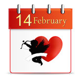Valentines day calendar date february Royalty Free Stock Photography