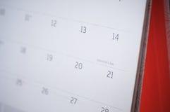 Valentines day calendar. Stock Photo