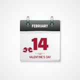 Valentines day calendar 14 february date. This is file of EPS10 format vector illustration