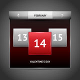 Valentines day on calendar Stock Images