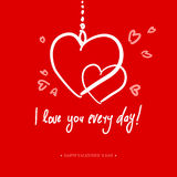 Valentines Day Calligraphy Greeting Card. Royalty Free Stock Photography