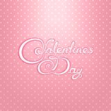 Valentines Day calligraphy lettering design Royalty Free Stock Photo