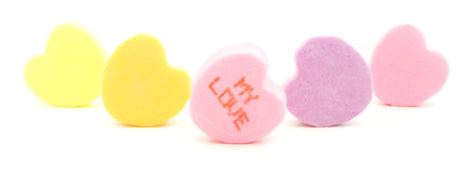 Valentines Day candy Stock Photos