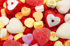 Valentines Day candy background Stock Photo