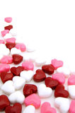Valentines Day candy background Stock Photos