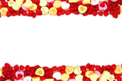 Valentines Day candy border Royalty Free Stock Images
