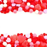 Valentines Day candy border royalty free stock photo
