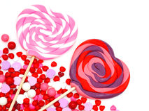 Valentines Day candy border Royalty Free Stock Photos