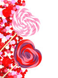 Valentines Day candy border Royalty Free Stock Image