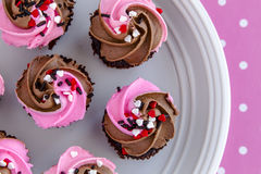 Valentines Day Candy and Cupcakes Stock Photography