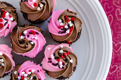 Valentines Day Candy and Cupcakes Royalty Free Stock Photos