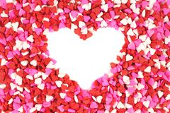 Valentines Day candy heart background Stock Image