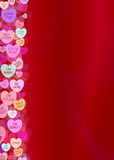 Valentines Day Candy Heart Border Background Stock Images