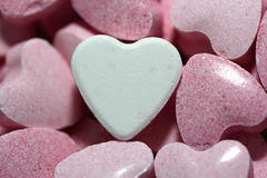 Valentines day candy hearts Royalty Free Stock Images