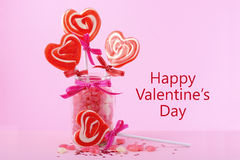 Valentines Day Candy in Jar Royalty Free Stock Photography