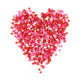 Valentines Day candy sprinkles heart Royalty Free Stock Images