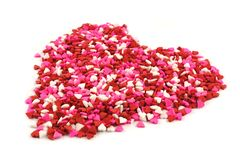 Valentines Day candy sprinkles heart Stock Photography