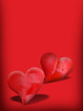 Valentines Day card. With two hearts Royalty Free Stock Images