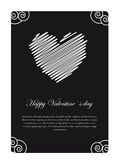 Valentines day card. Happy valentines day card on black and white, space to insert your text Royalty Free Stock Images