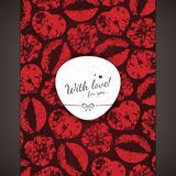Valentines day card. Valentines day, bright greeting card Stock Illustration