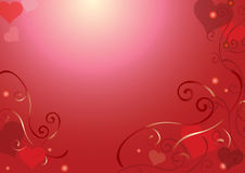 Valentines Day card. The card for valentines day Royalty Free Stock Photography
