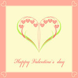 Valentines Day card Stock Image