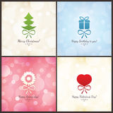 Valentines day card. Valentines day, bright greeting card Stock Photos