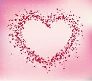 Valentines Day Card, Abstract vector background with hearts. Vector illustration Stock Image