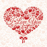 Valentines day card Stock Photo