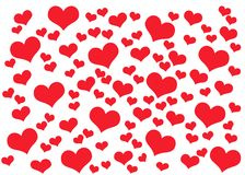 Valentines Day card background with hearts royalty free stock image
