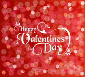 Valentines day card background text bokeh light Royalty Free Stock Images