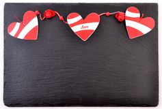 Valentines day card. Background whith heart, on black stone Royalty Free Stock Images