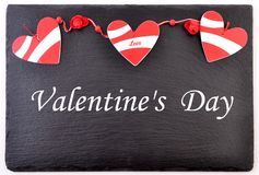 Valentines day card. Background whith heart, on black stone Stock Photo