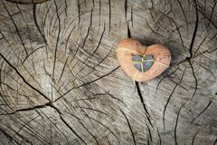 Valentines day card. Background whith heart, on wood Stock Photo