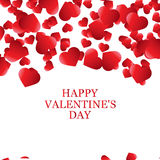 Valentines Day card, banner design Stock Photography