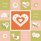 Valentines day card. Valentines day beautiful greeting  card Stock Image
