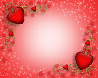 Valentines Day card border or background Stock Photography