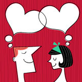 Valentines day card. Communication concept in retro style Royalty Free Stock Photos