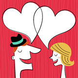 Valentines day card. Communication concept in retro style Stock Image