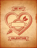 Valentines Day card with cupid's arrow Royalty Free Stock Images