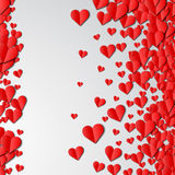 Valentines Day card with cut paper hearts Stock Photography