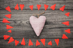 Valentines day card. Decorative vintage background with heart. Stock Photography
