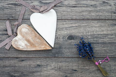 Valentines day card. Decorative vintage background with heart. Royalty Free Stock Photography