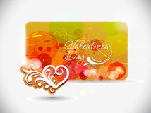 Valentines day card design Royalty Free Stock Photo