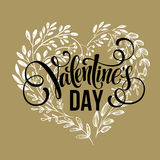 Valentines day card design Hand drawn text Royalty Free Stock Photo